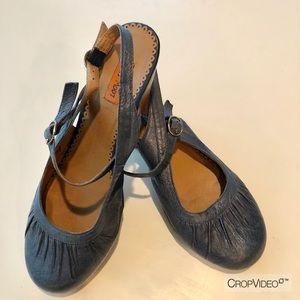 Miz Mooz blue leather heels 👠
